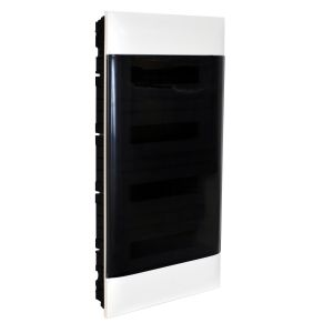 Practibox S Χωνευτός Πίνακας Για Γυψοσανίδα 4Χ12 Διάφανη Πόρτα