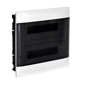 Practibox S Χωνευτός Πίνακας Για Γυψοσανίδα 2Χ18 Διάφανη Πόρτα