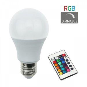 ΛΑΜΠΑ Ε27 RGB + CONTROLER 7.5 WATT