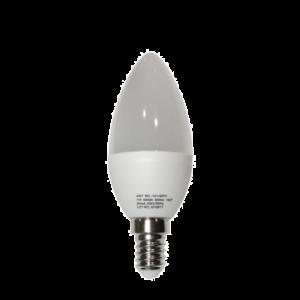 Λάμπα LED Κεράκι Λευκό Μάτ Ε14 7W 230V Ψυχρό