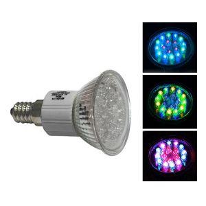 LED Ε14 18LED 1.5W 230V 70' R.G.B ΧΡΩΜΑΤΑ