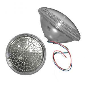 LED Λάμπα Πισίνας PAR56 240LED 18W 12VDC 4 Καλώδια RGB