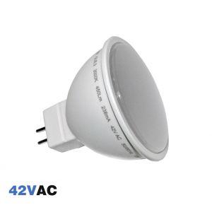 Λάμπα LED SMD MR16 Πλαστικό 5W 42VAC 105' Θερμό