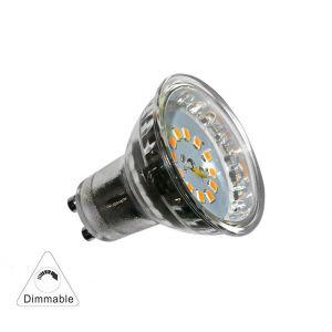 Λάμπα LED SMD GU10 Γυάλινη 5W 230V 110' Λευκό Ντιμαριζόμενο
