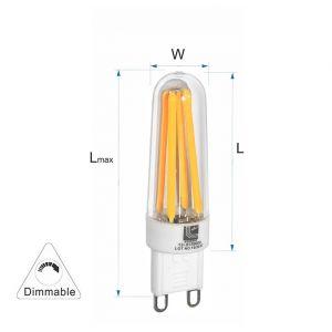 Λάμπα LED COG Κεραμικό G9 3.5W 230VAC Ντιμαριζόμενη Θερμή