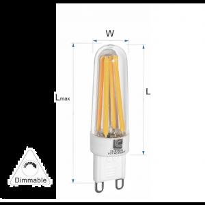 Λάμπα LED COG Κεραμικό G9 3.5W 230VAC Ντιμαριζομενο Λευκό