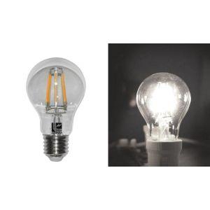 Λάμπα LED COG Αχλάδι Διάφανο Ε27 8W 230V Λευκό