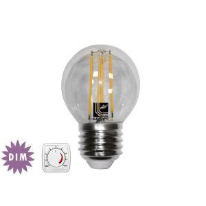 Λάμπα LED COG Σφαιρική Διάφανη Ε27 6W 230V Ντιμαριζόμενη Θερμή