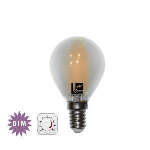 Λάμπα LED COG Σφαιρική Μάτ Ε14 6W 230V Ντιμαριζόμενη Ψυχρή
