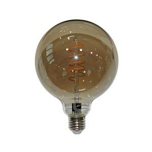 LED COG SPIRAL GLOBE Φ95 SMOKY Ε27 6W 230V ΝΤΙΜΑΡΙΖΟΜ.ΘΕΡΜΟ