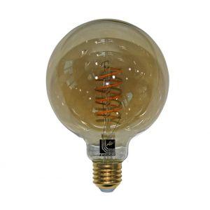 LED COG SPIRAL GLOBE Φ125 SMOKY Ε27 6W 230V ΝΤΙΜΑΡΙΖΟΜ.ΘΕΡΜΟ