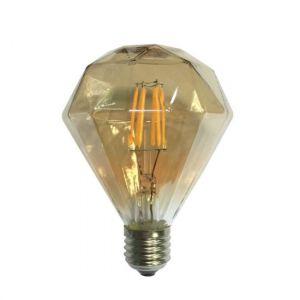 LED FILAMENT E27 AMBER DIM 6W 2700K 230V AC 590LM RA80