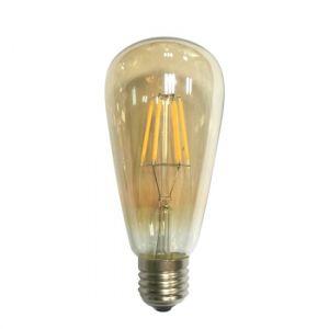 LED FILAMENT E27 ST64 AMBER 6W 2700K 230V AC 590LM RA80