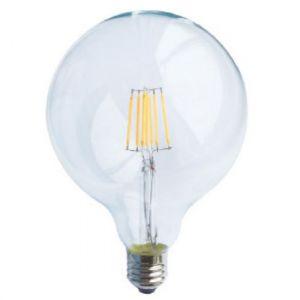 LED FILAMENT E27 G125 DIM 6W 4000K 230V AC 700LM RA80