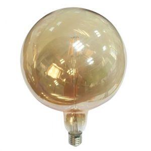 LED E27 QUMA AMBER DIM 6W 2700K 230V AC 590LM RA80