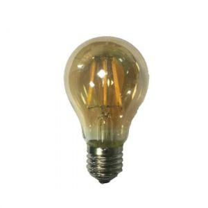 LED FILAMENT E27 A60 AMBER DIM 6W 2700K 230V AC 680LM RA80