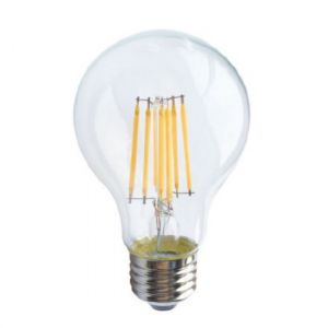 LED FILAMENT E27 A60 8W 2700K 230V AC 890LM RA80