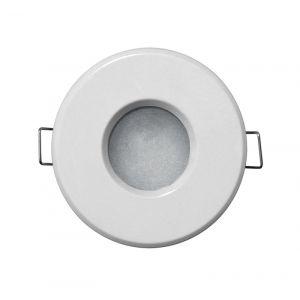 Σπότ MR16/GU10 Αλουμινίου Στρογγυλό Σταθερό 12V IP65 Λευκό