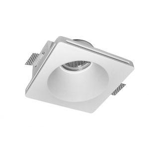 Σπότ Γύψινο Ψευδοροφής Μονό Τετράγωνο Στρογγ. GU10 Βαθύ 120*120h:60mm
