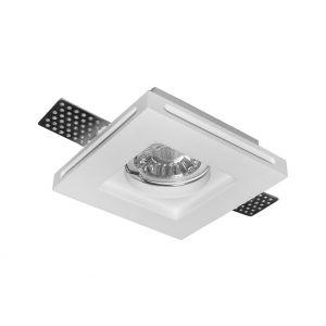 Σπότ Γύψινο Ψευδοροφής Μονό Τετράγωνο GU10 Ρηχό D:100*100h:25mm