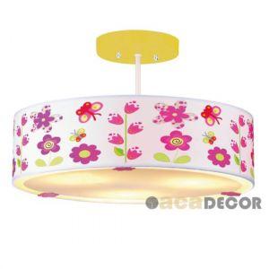 Φωτιστικό Παιδικό Οροφής 3χ40W Ε14 Λουλούδια