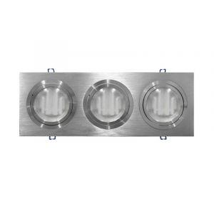Φωτιστικό Ψευδοροφής Τριπλό Αλουμινίου (WL-67013) AR111