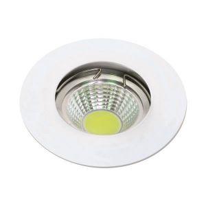 Σπότ Σταθερό Αλουμινίου Λευκό ΜR16
