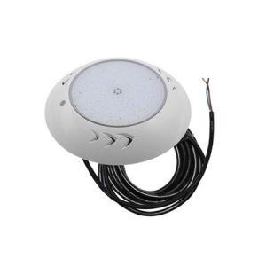 Φωστικό Επίτοιχο ΠΙΣΙΝΑΣ LED 24W 12VAC/DC Με Λάμπα Ρητίνης & 2μ Καλώδιο Με 333smd 3014 Δέσμη 120° Στεγανό IP-68 Στρογγυλό Πλαστικό Λευκό Σώμα Θερμό φως 3000k 1920lm D:260mm h:40mm