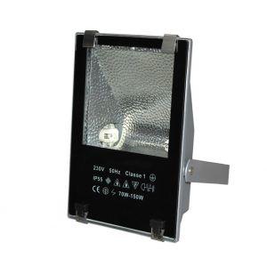 Προβολέας Στεγανός IP55 Ασύμμετρης Δέσμης HQI Με Κλίπς 150W Γκρί