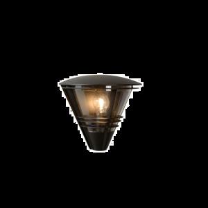 LIVIA WALL LIGHT IP44 W11.5 L27 H25CM ΜΑΥΡΟ
