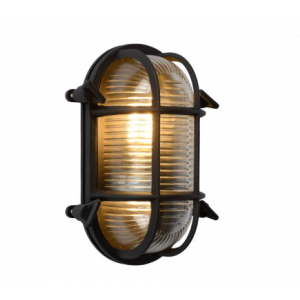 DUDLEY ΦΩΤΙΣΤΙΚΟ ΕΞΩΤΕΡΙΚΟΥ ΤΟΙΧΩΜΑΤΟΣ OVAL IP65 E27 / 40W ΜΑΥΡΟ