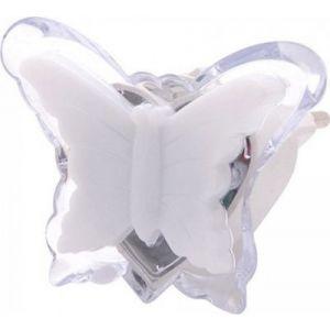 Φωτιστικό Νυκτός LED Πεταλούδα 0.4W Λευκό