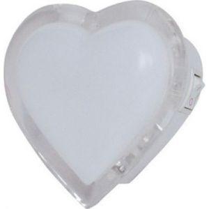Φωτιστικό Νυκτός LED Καρδιά 0.4W Λευκό