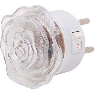 Φωτιστικό Νυκτός LED Λουλούδι 0.4W Κόκκινο