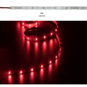 Ταινία LED 5m 24VDC 4.8W/m 60LED/m Κόκκινο IP20