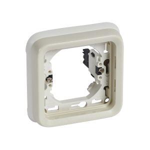 Πλαίσιο Χωνευτό 1 Θέσης Λευκό IP55 Plexo