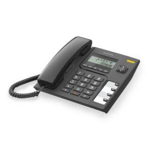 Ενσύρματο τηλέφωνο με αναγνώριση κλήσης Μαύρο Τ56