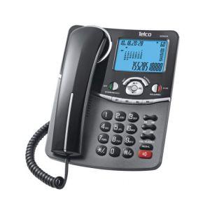 Ενσύρματο τηλέφωνο με αναγνώριση κλήσης στην αναμονή Μαύρο GCE6216 2