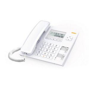 Ενσύρματο τηλέφωνο με αναγνώριση κλήσης Λευκό Τ56