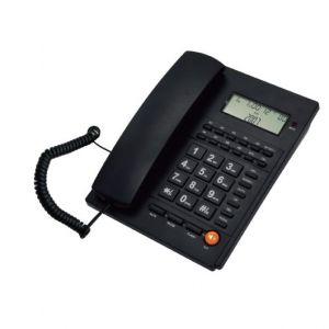 Ενσύρματο τηλέφωνο με αναγνώριση κλήσης Μαύρο ΤΜ-PA117