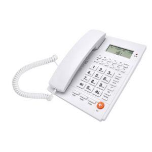 Ενσύρματο τηλέφωνο τηλέφωνο με αναγνώριση κλήσης Λευκό ΤΜ-PA117