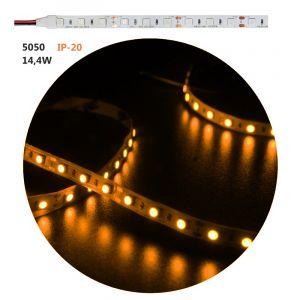 ΤΑΙΝΙΑ LED ΛΕΥΚΗ ΑΥΤΟΚΟΛΛΗΤΗ 5m24VDC 14.4W/m 60LED/m 5050 ΚΙΤΡΙΝΗ -ΠΟΡΤΟΚΑΛΙ IP20