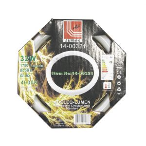 ΛΑΜΠΑ ΦΘΟΡΙΟΥ ΚΥΚΛΙΚΗ Τ-9 32W ΛΕΥΚΟ 4000Κ (840)