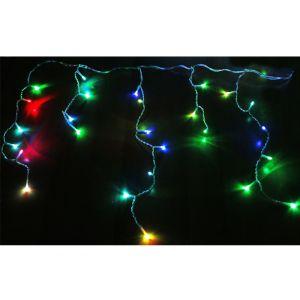 100 LED ΓΙΡΛΑΝΤΑ ΠΡΟΓΡΑΜ+ΣΤΑΘΕΡΑ ΔΙΑΦΑΝΟ ΚΑΛΩΔΙΟ RGB IP44