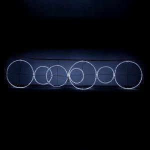 ΦΩΤΕΙΝΟΙ ΔΑΚΤΥΛΙΟΙ ΜΕ ΛΕΥΚΗ LED ΦΩΤΟΣΩΛΗΝΑ, 280cm, 400x100cm