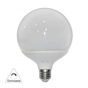 LED GLOBE Φ120 ΛΕΥΚΟ E27 20W 230V ΝΤΙΜΑΡΙΖΟΜ.ΘΕΡΜΟ
