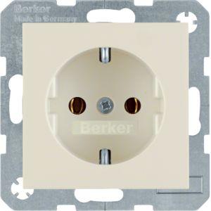 Berker S.1/B3/B7  Πρίζα Σούκο Με Βιδωτές Επαφές Μπεζ