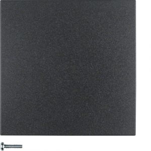 Berker S.1/B.3/B.7  Πλακίδιο Για Ρυθμιστή Φωτισμού Ανθρακί Ματ