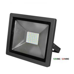 ΠΡΟΒΟΛ.LED-SMD slim 12VDC & 24VDC 30W 4000K ΛΕΥΚΟ IP65 ΑΝΘΡΑΚΙ
