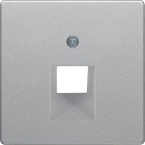 Berker Q1/Q3 Πλακίδιο Για Πρίζα Τηλεφώνου / Δικτύου/Wlan Αλουμίνιο